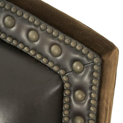 Fabric/leather Club Chair - Opt1