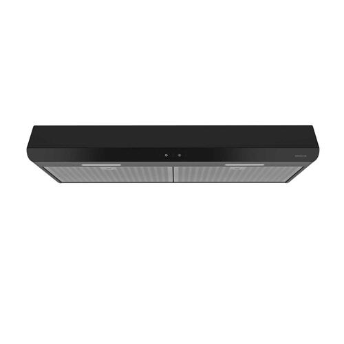 Sahale 30-inch 300 CFM Black Range Hood with LED light, ENERGY STAR® certified