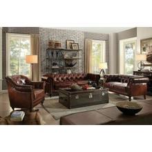 ACME Aberdeen Sofa - 53625 - Vintage Dark Brown Top Grain Leather