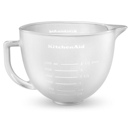 5-Qt. Tilt-Head Frosted Glass Bowl with Measurement Markings & Lid Other