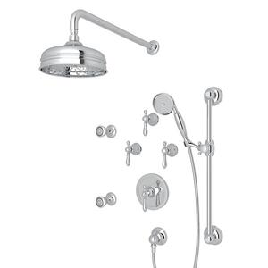 Polished Chrome ARCANA THERMOSTATIC SHOWER PACKAGE with Arcana Series Only Classic Metal Lever Product Image