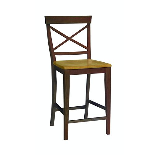 John Thomas Furniture - X-Back Stool in Cinnamon & Espresso