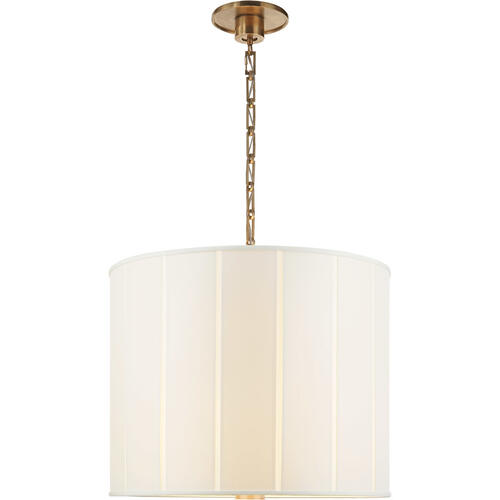 Visual Comfort - Barbara Barry Perfect Pleat 2 Light 23 inch Soft Brass Hanging Shade Ceiling Light