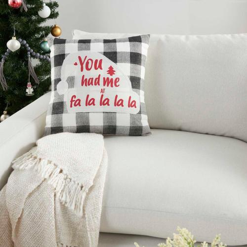 """Holiday Pillows Bx164 Multicolor 18"""" X 18"""" Throw Pillow"""
