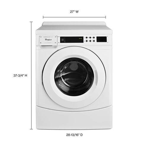 """Whirlpool - 27"""" Commercial High-Efficiency Energy Star-Qualified Front-Load Washer, Non-Vend White"""