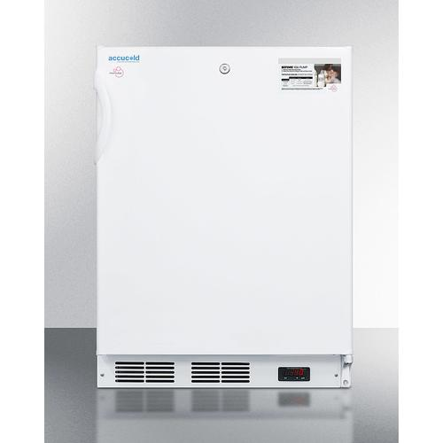 Summit - ADA Compliant Momcube All-freezer for Storage of Breast Milk, With Manual Defrost, Front Lock, and Reversible Door