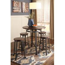 See Details - Challiman - Rustic Brown 2 Piece Dining Room Set