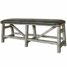 See Details - LODGE DINING Bench Counter Upholstered 60 in.