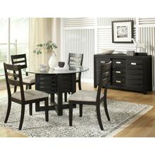 Altamonte Round Dining Base - Dark Charcoal
