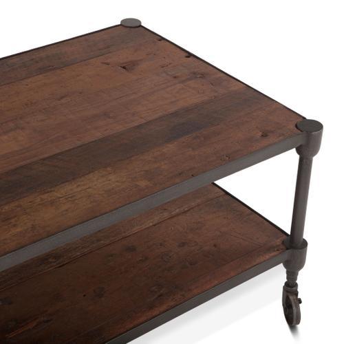 """Industrial Teak 48"""" Coffee Table"""