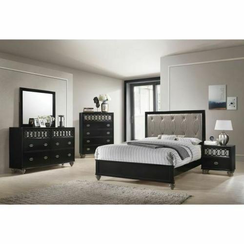 ACME Ulrik Queen Bed - 27070Q - Copper & Black