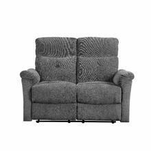 ACME Treyton Loveseat (Motion) - 51816 - Contemporary - Chenille, Frame: Wood (Hermlock/Fir,Ply), Foam (D25), Metal Reclining Mechanism - Gray Chenille
