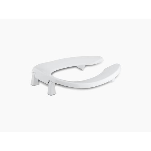 """White Elongated Toilet Seat With 1"""" Bumpers and Anti-microbial Agent"""