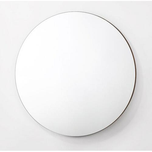 VIG Furniture - Modrest Paula - Mid-Century Round Walnut Mirror