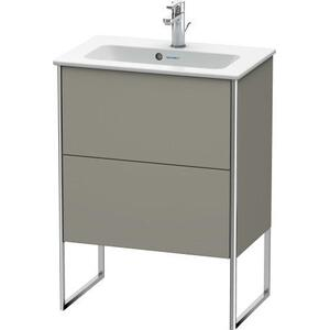 Vanity Unit Floorstanding Compact, Stone Gray Satin Matte (lacquer)