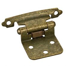 """View Product - Traditional 1/2"""" Overlay Hinge with Screws - Burnished Brass"""