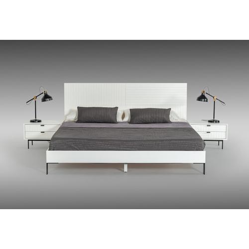 VIG Furniture - Nova Domus Valencia Contemporary White Bed