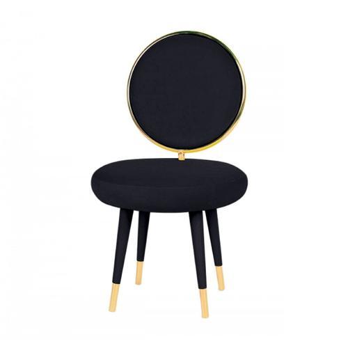 VIG Furniture - Modrest Haswell - Glam Black Velvet Accent Chair