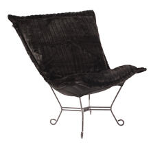 Scroll Puff Chair Mink Black Titanium Frame