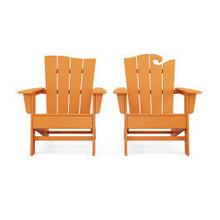 View Product - Wave 2-Piece Adirondack Set with The Wave Chair Left in Vintage Tangerine