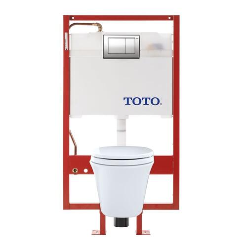 Maris® Wall-Hung Toilet & DUOFIT In-Wall Tank System, 1.6 GPF & 0.9 GPF, Elongated Bowl - Cotton