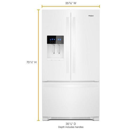 """Whirlpool Canada - 36"""" Freestanding French Door Refrigerator - 24.7 cu. ft."""