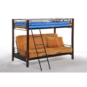 Dandelion Futon Bunk in Dark Chocolate Finish