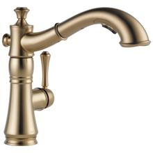 Champagne Bronze Single Handle Pull-Out Kitchen Faucet