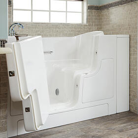 Gelcoat Value Series 30x52-inch Outward Opening Door Soaking Walk-In Bathtub  American Standard - White
