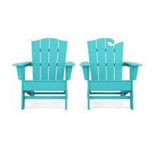 View Product - Wave 2-Piece Adirondack Chair Set with The Crest Chair in Vintage Aruba