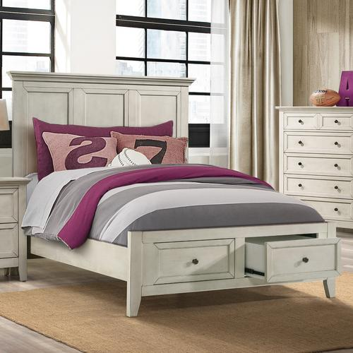 Intercon Furniture - San Mateo Youth Full Bed  Rustic White