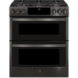 "GE ProfileGE PROFILEGE Profile(TM) 30"" Smart Slide-In Front-Control Gas Double Oven Convection Range"