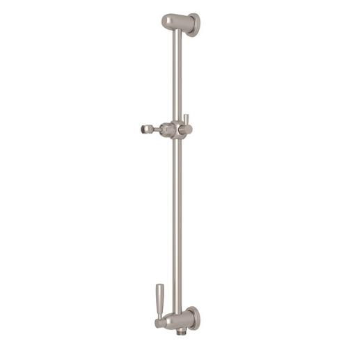 Satin Nickel Perrin & Rowe Holborn Slide Bar With Integrated Volume Control And Outlet
