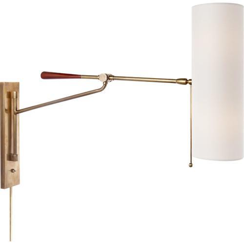 Visual Comfort - AERIN Frankfort 2 Light 6 inch Hand-Rubbed Antique Brass Articulating Wall Light