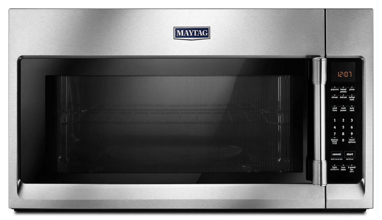 MaytagOver-The-Range Microwave With Interior Cooking Rack - 2.0 Cu. Ft. Fingerprint Resistant Stainless Steel