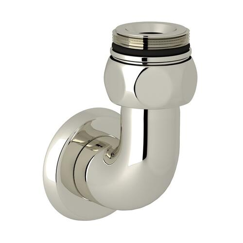 Polished Nickel Perrin & Rowe Holborn Exposed Thermostatic Shower Valve Bottom Return Elbow