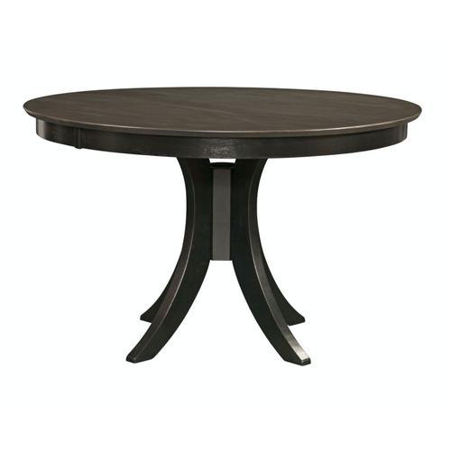 John Thomas Furniture - 30'' H Siena Pedestal Table in Coal & Black
