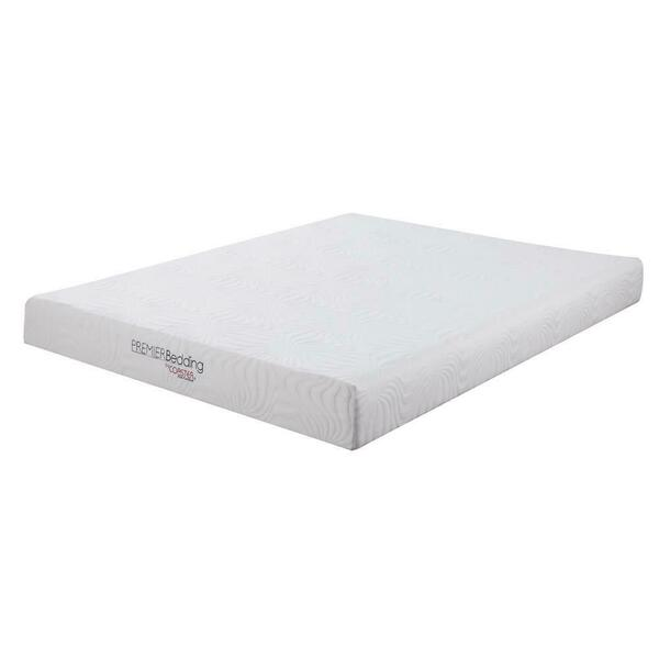 See Details - Keegan White 8-inch Twin XL Memory Foam Mattress