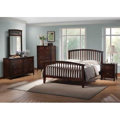 Tia Cappuccino King Five-piece Bedroom Set