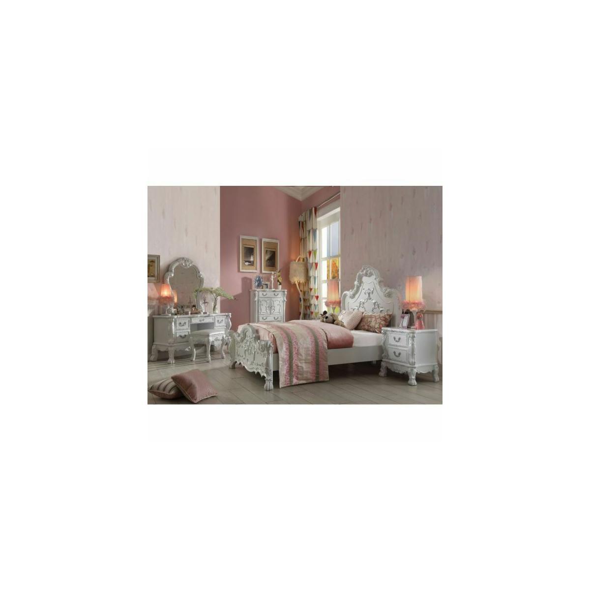 ACME Dresden Queen Bed - 30660Q - Antique White