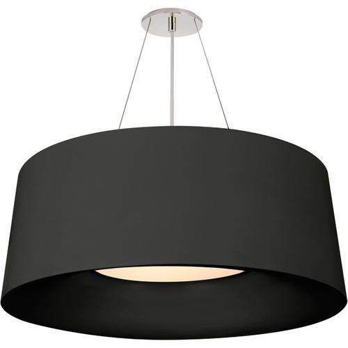 Visual Comfort - Barbara Barry Halo 3 Light 28 inch Matte Black Hanging Shade Ceiling Light, Medium