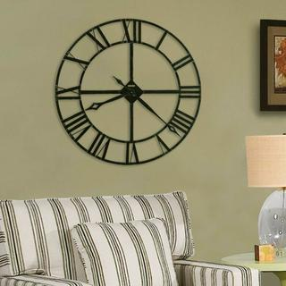 See Details - Howard Miller Lacy Oversized Iron Wall Clock 625372