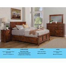 View Product - A-R468-Q/CK/EK Rustic Elevated Pedestal Bed