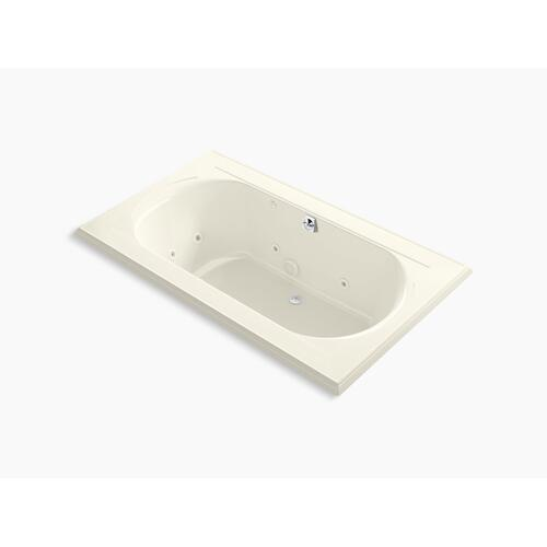 "Biscuit 72"" X 42"" Whirlpool Bath, Drop-in With Center Rear Drain"