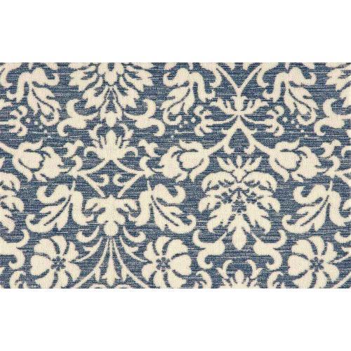 Elegance Floral Flair Flflr Denim Broadloom Carpet