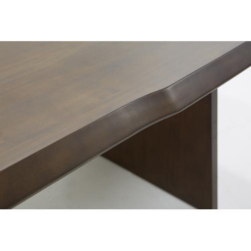 Gallery - Modrest Selena Modern Acacia & Brass Dining Table