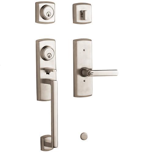 Satin Nickel Soho Two-Point Lock Handleset
