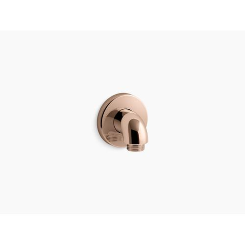 Vibrant Rose Gold Wall-mount Supply Elbow With Check Valve