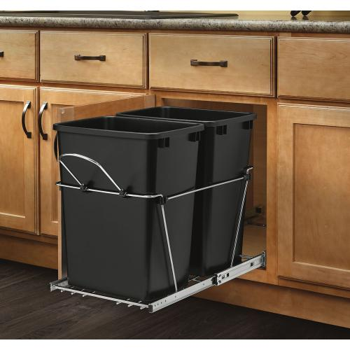 Rev-A-Shelf - RV-18KD-18C S - Double 35 Quart Pullout Waste Containers