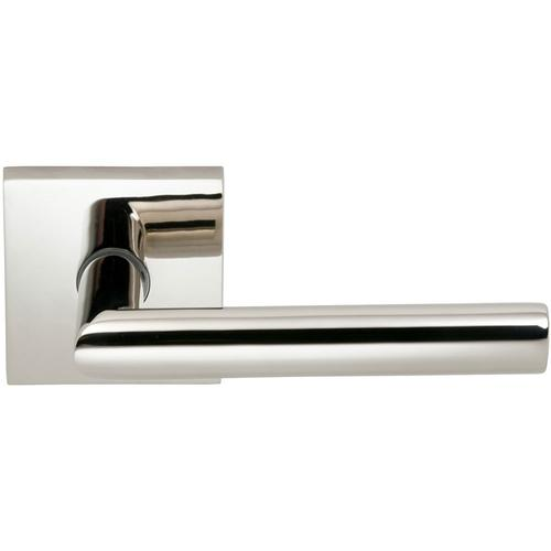 Product Image - Interior Modern Lever Latchset with Square Rose in (US14 Polished Nickel Plated, Lacquered)